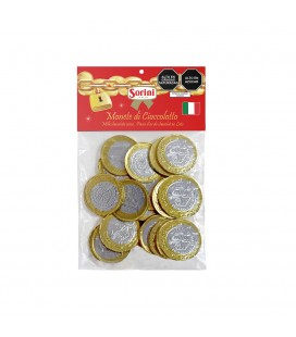 CHOCOLATE SORINI MONEDAS EURO PLASTIC BOX  X 100 GR